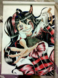 Anime Girl_Halloween traditional