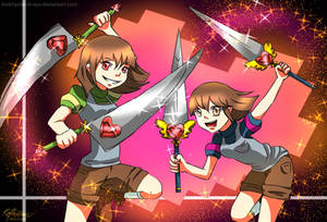Chara and Frisk :Underrevision au