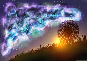 Mystic clouds over sunrise   Digitalart wallpaper