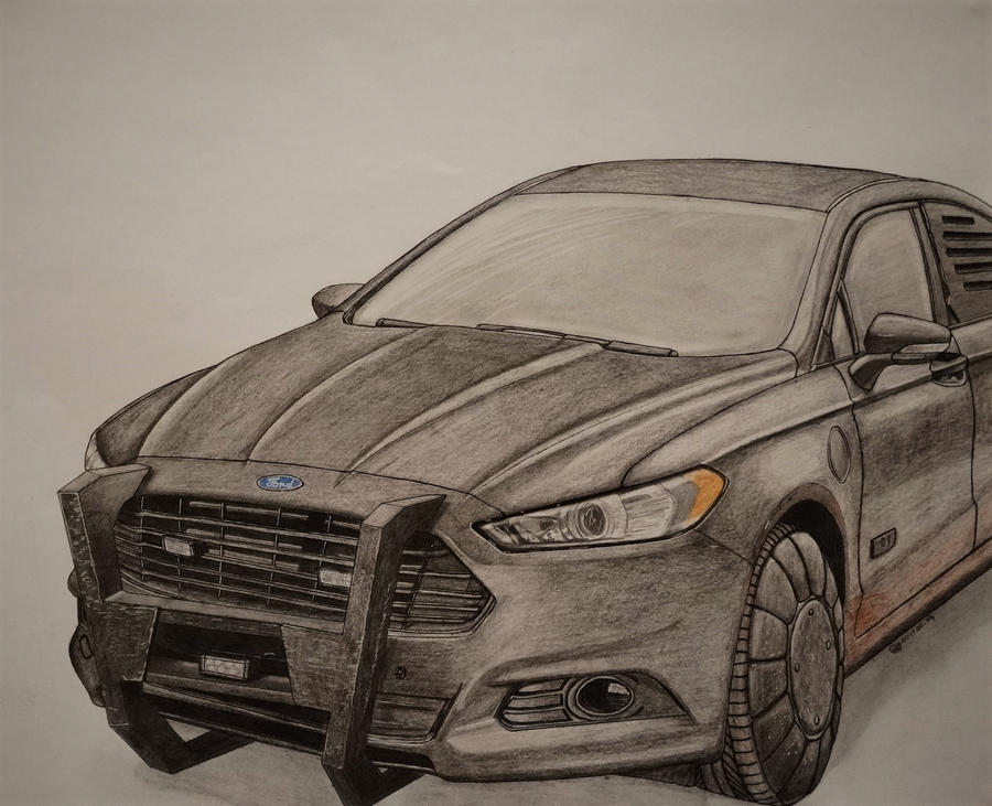 Ford Fusion Police Car By Bewilderbeast1