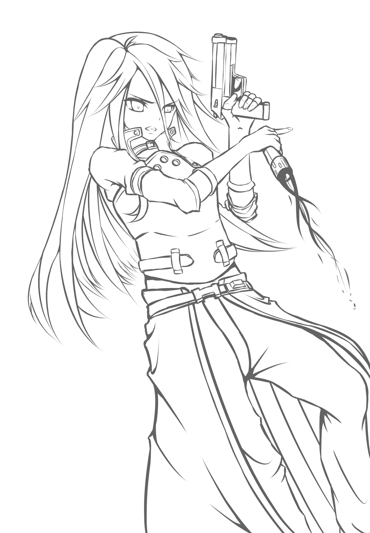 Lineart Ggo Kirito Remastered By Kayuu Kun On Deviantart