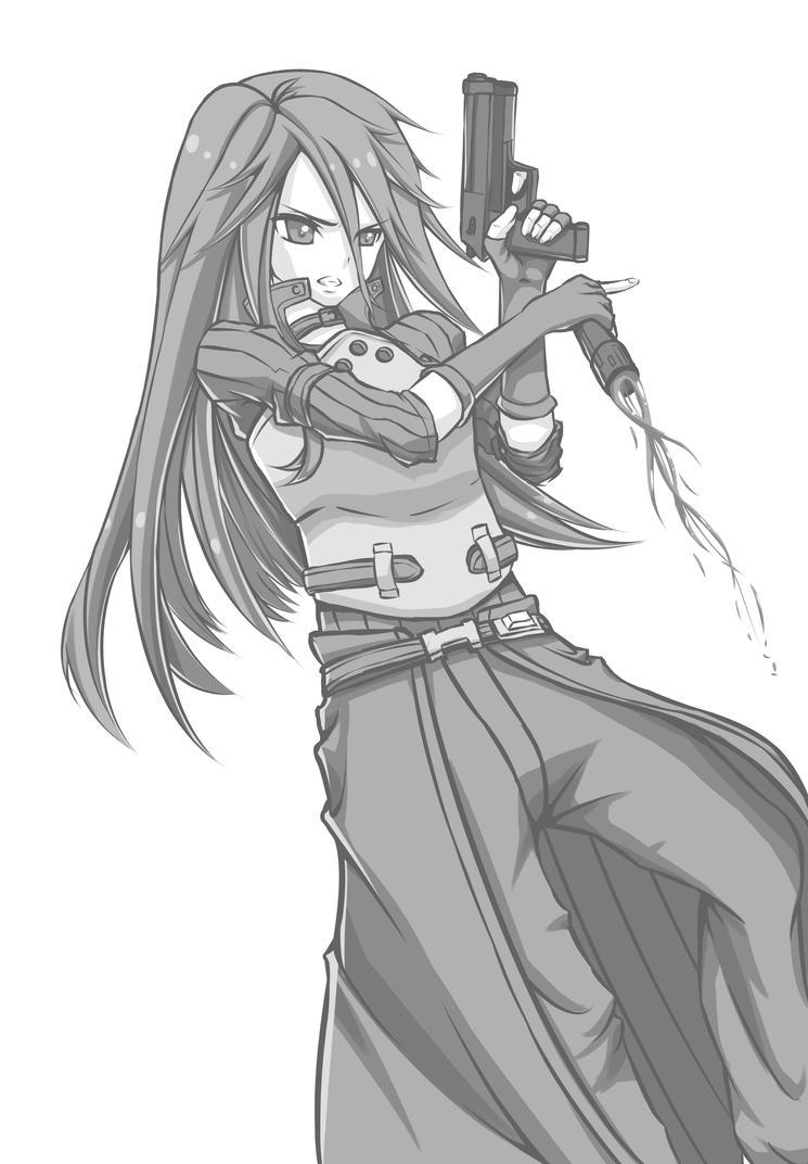 [GrayScale] GGO Kirito - Remastered! by Kayuu-kun