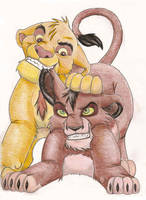 Taka and Mufasa by CowgirlSpirit