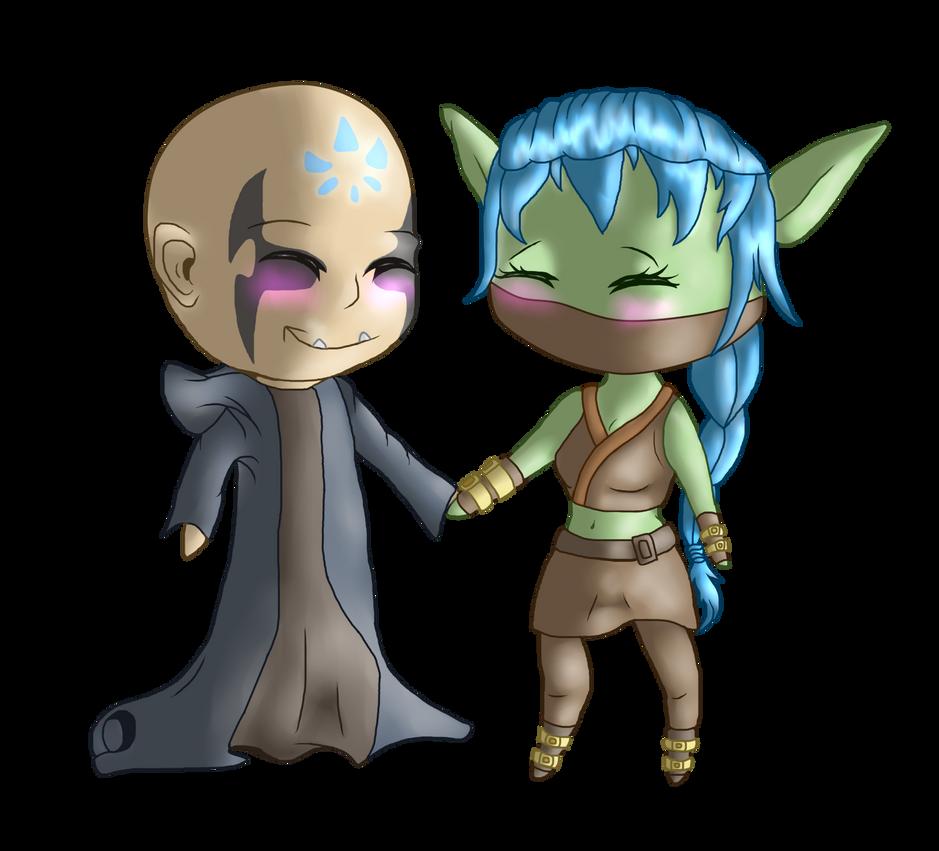 :R: - Chibi Stealth Elf x Kaos by Venus-Dragoness
