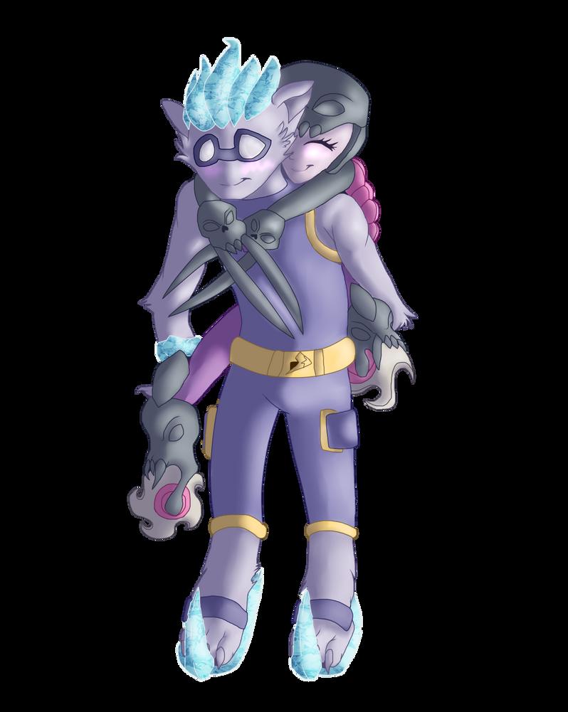 :Commish: - Freeze Blade x Roller Brawl by Venus-Dragoness