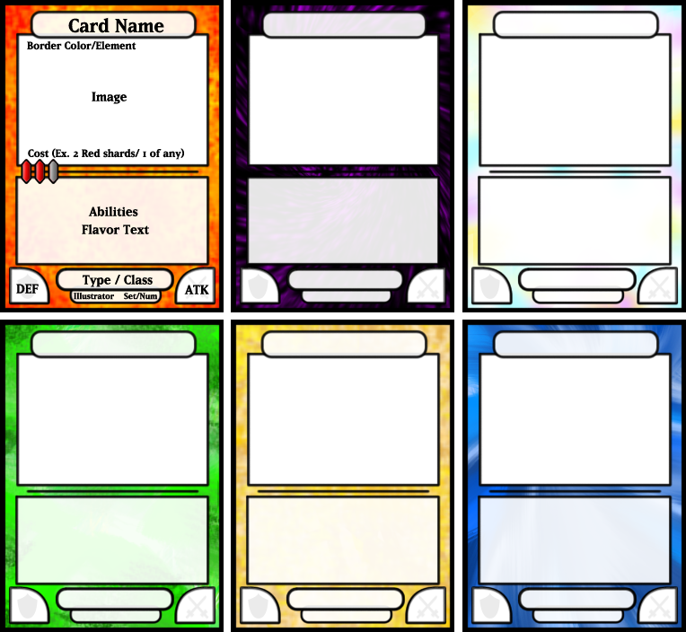 Card Game Template. tcg fantasy trading card game kit in medieval ...