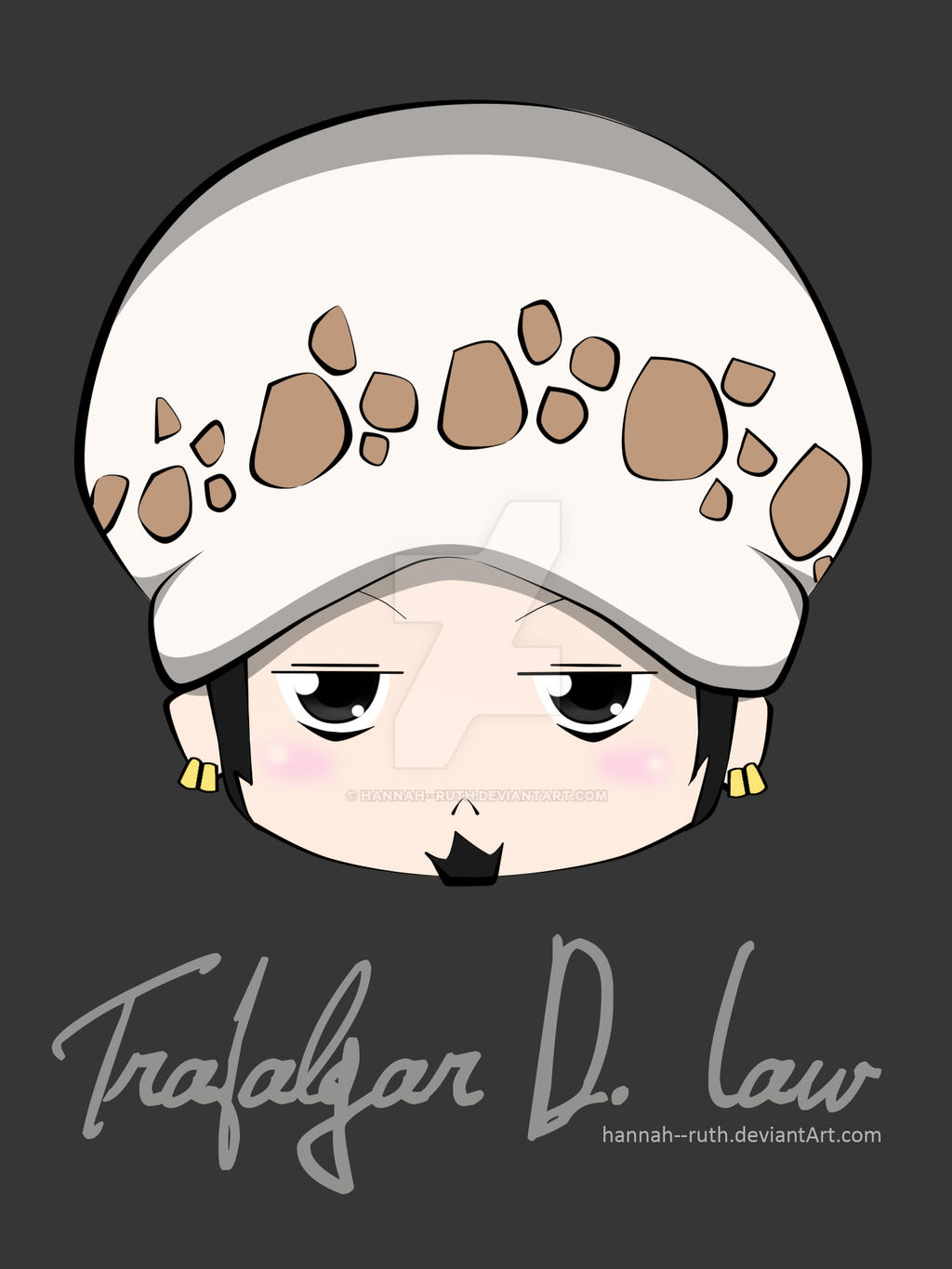 Trafalgar Law Chibi Head by Hannah--Ruth on DeviantArt