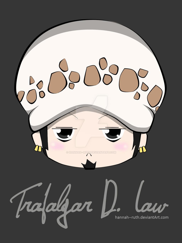 Trafalgar Law Chibi Head by Hannah--Ruth on DeviantArt