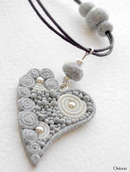 'Granite heart' by OrionaJewelry
