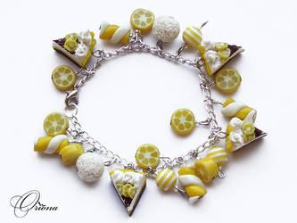 Bracelet 'Lemon pie' by OrionaJewelry