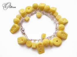 Bracelet 'Cheese' by OrionaJewelry