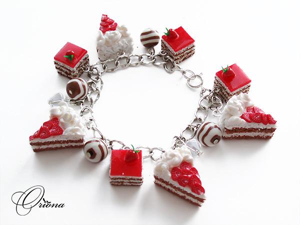 """Bracelet """"Strawberry Cake"""" by OrionaJewelry"""