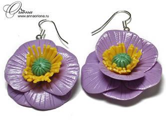 Earrings 'Flowers' by OrionaJewelry