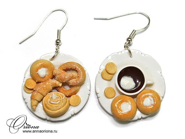 """Earrings """"Baking"""" by OrionaJewelry"""