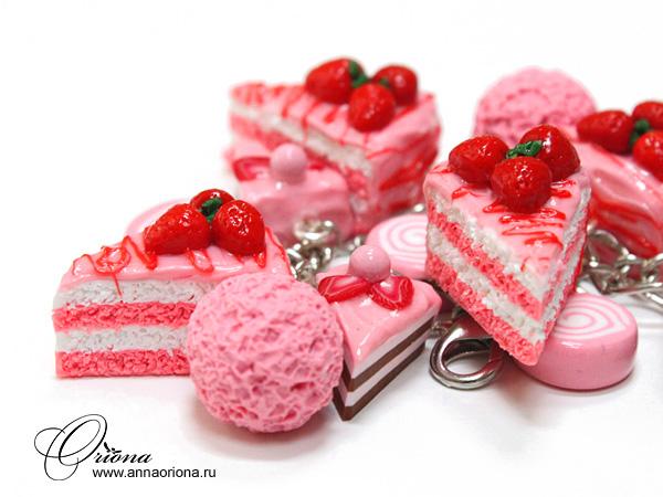 Strawberry bracelet by OrionaJewelry
