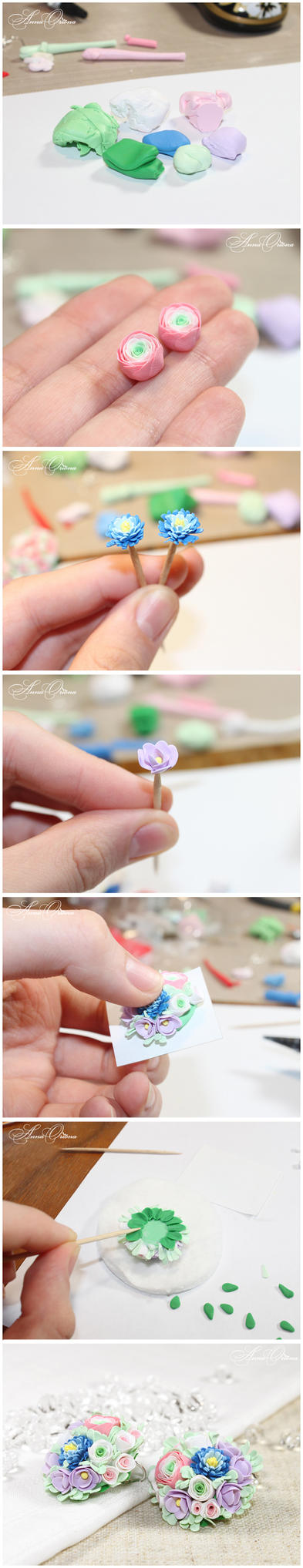 Bouquet of flowers - the process by OrionaJewelry