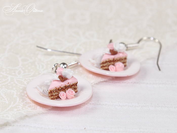 Pink plates by OrionaJewelry