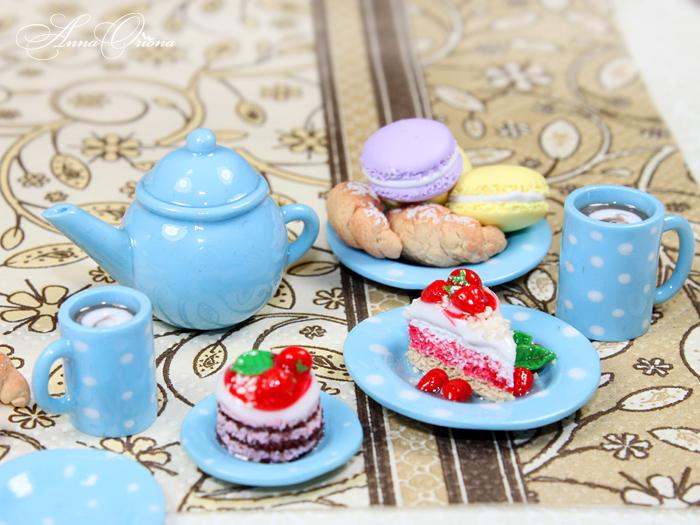 Miniature crockery and food by OrionaJewelry