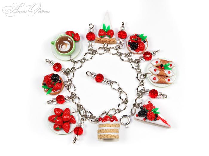 Bracelet Berry desserts by OrionaJewelry