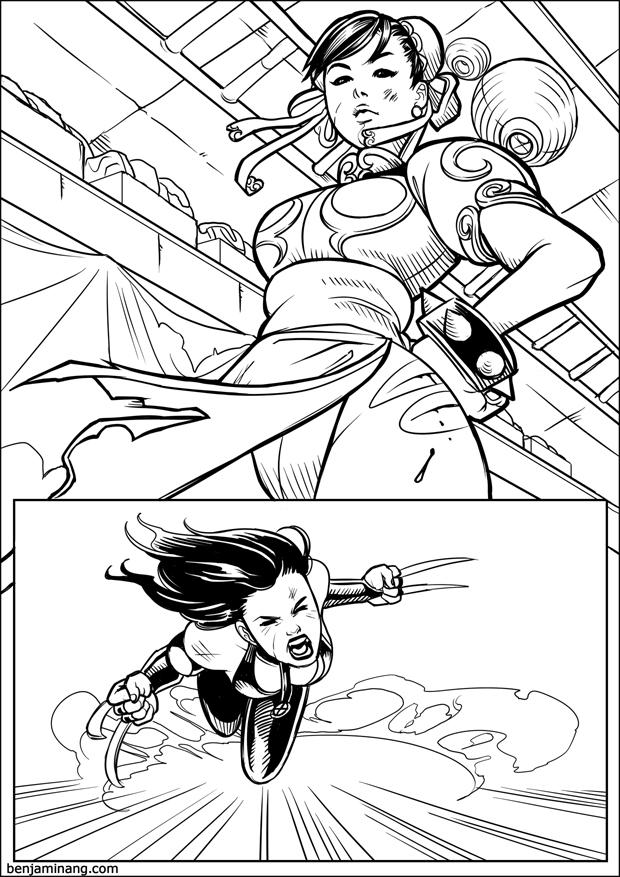 MVC3 - X-23 VS Chun-Li page 02 by BenjaminAng