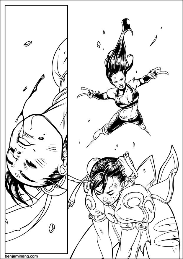 MVC3 - X-23 VS Chun-Li page 04 by BenjaminAng