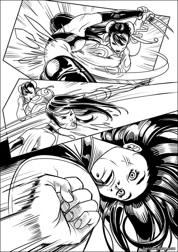 MVC3 - X-23 VS Chun-Li page 05 by BenjaminAng
