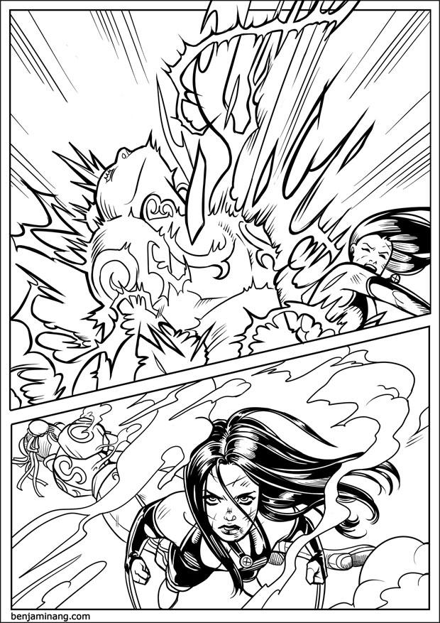 MVC3 - X-23 VS Chun-Li page 06 by BenjaminAng