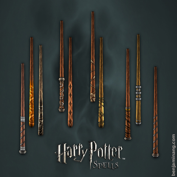 harry potter spells wands by benjaminang on deviantart. Black Bedroom Furniture Sets. Home Design Ideas