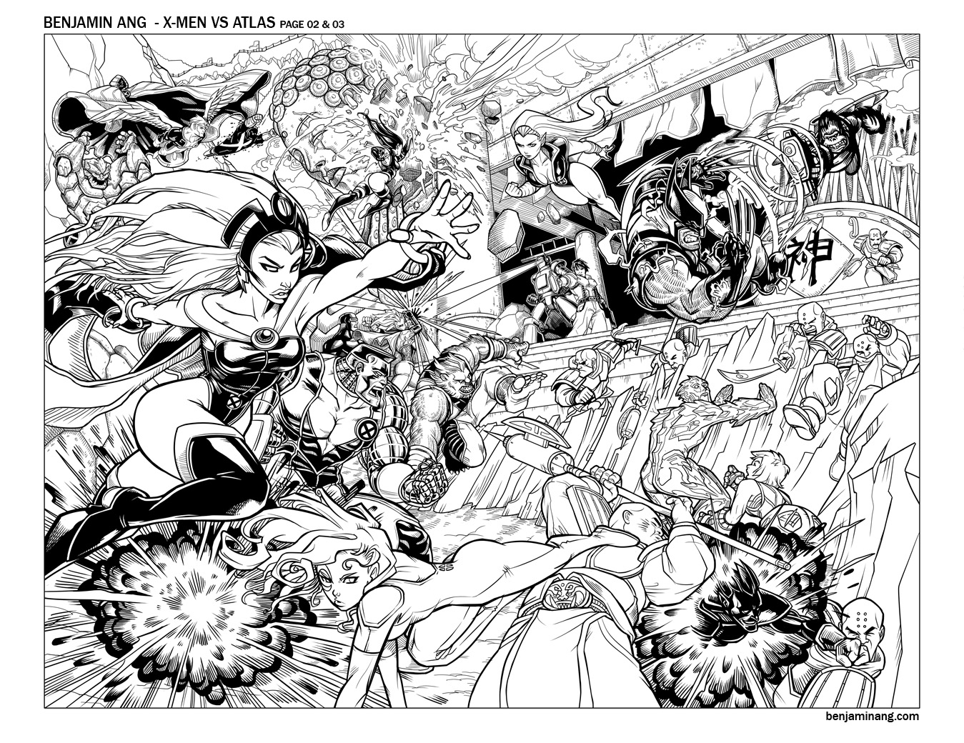 X-Men VS Agents of Atlas 01 by BenjaminAng