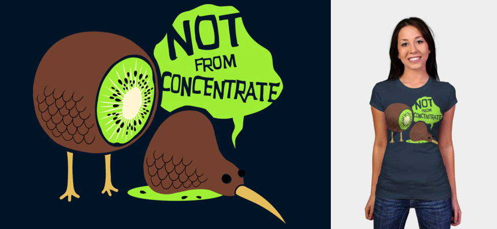 T-Shirt Design: Not From Concentrate by BenjaminAng