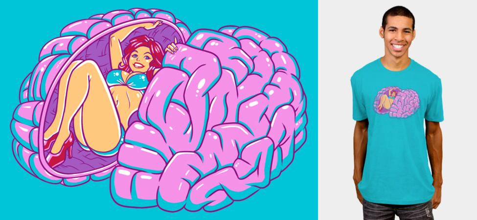 T-Shirt Design: Brain Teaser by BenjaminAng