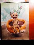 Mandrake/Mandragora watercolor by skullkid1993