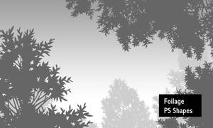 Foilage - PS Shapes by screentones
