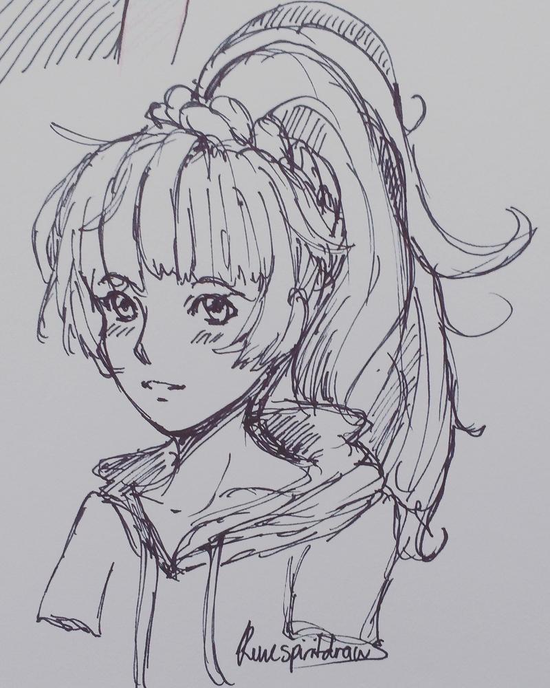 Marker Sketch Lillie by RuneSpirit