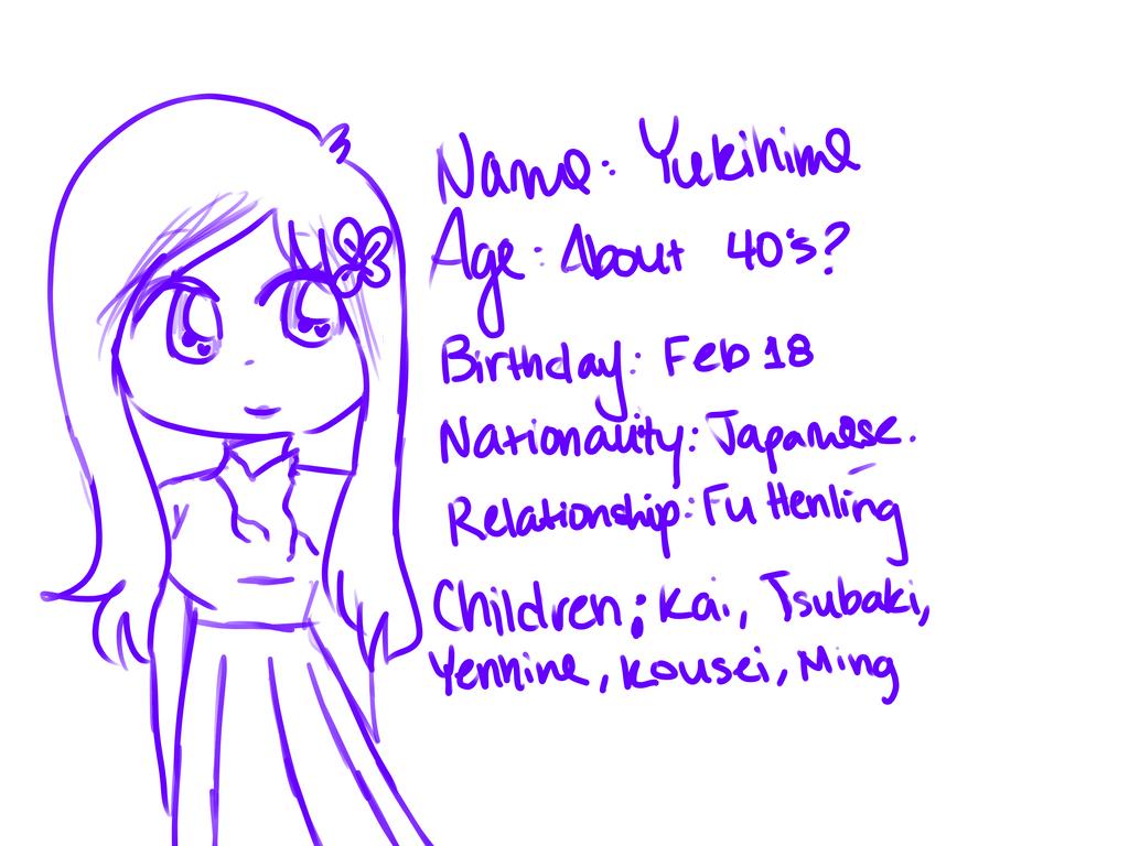 Yukihime Bio(sketch) by OliviaCxt