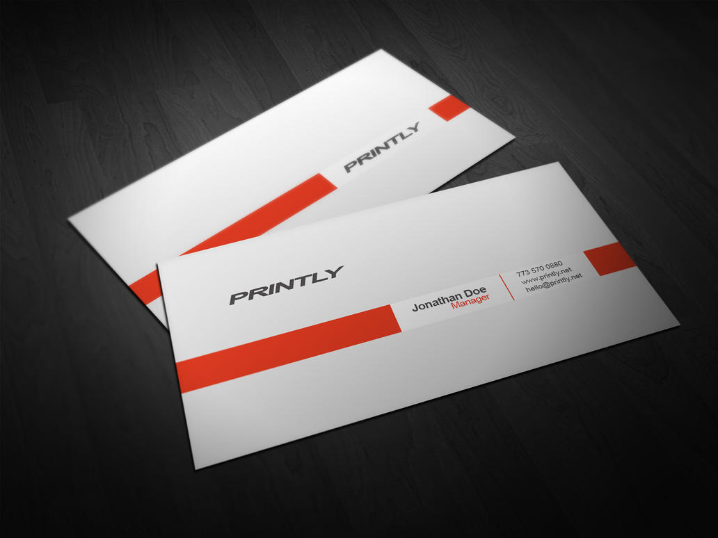 Free Printly Business Card PSD Template By Kjarmo On DeviantArt - Business card photoshop template
