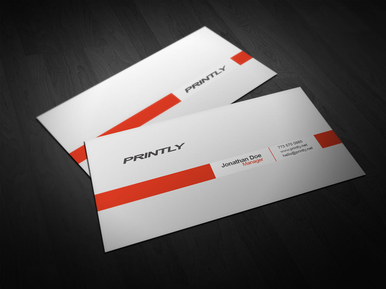 Free Printly Business Card PSD Template by kjarmo on DeviantArt