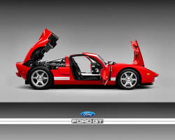 Ford GT red stock by puddlz