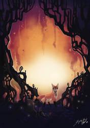 Fox and fire by Fyreflysky