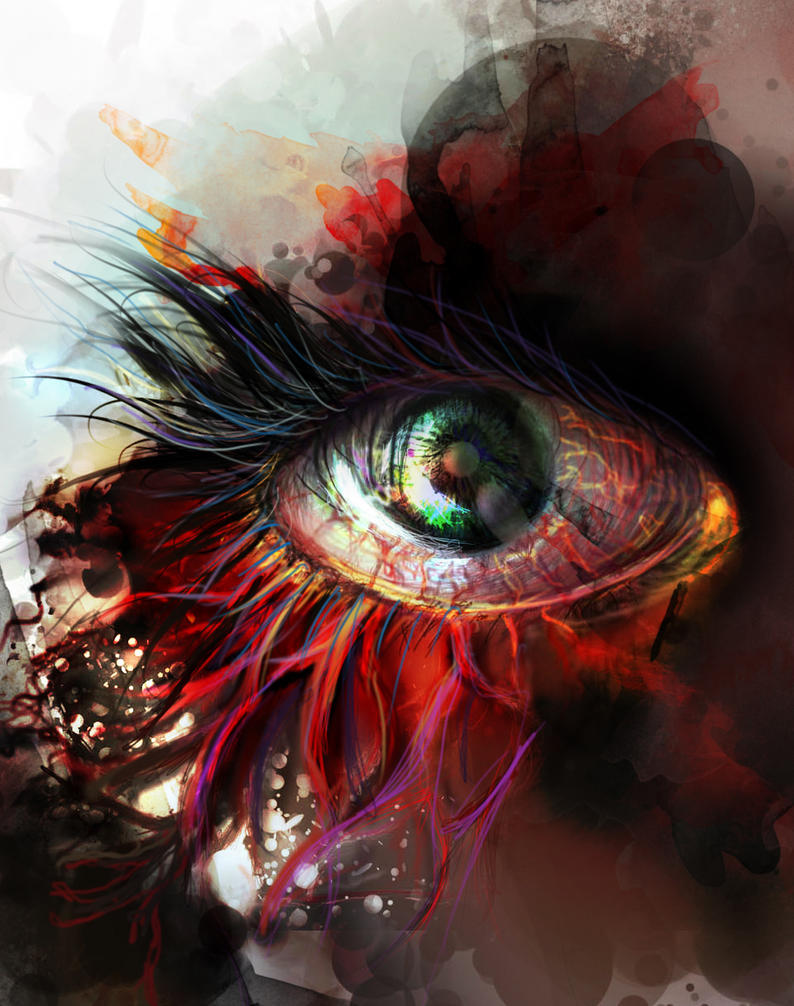 Bloody eye by Nayra93