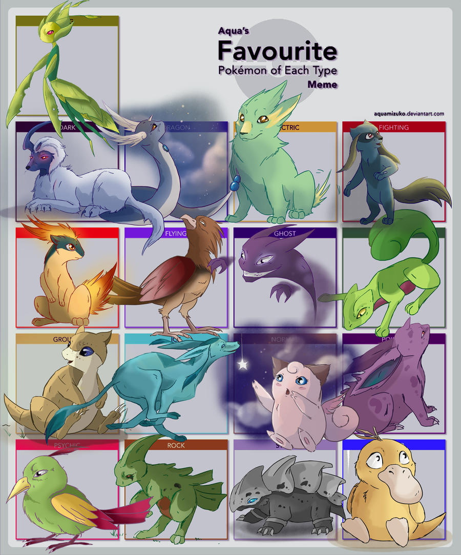 pokemon type meme by busbyart