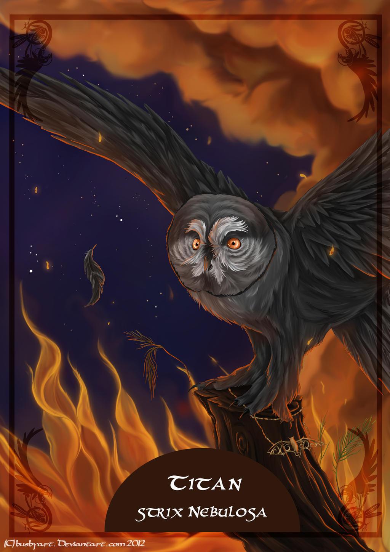 solar owls titan by busbyart