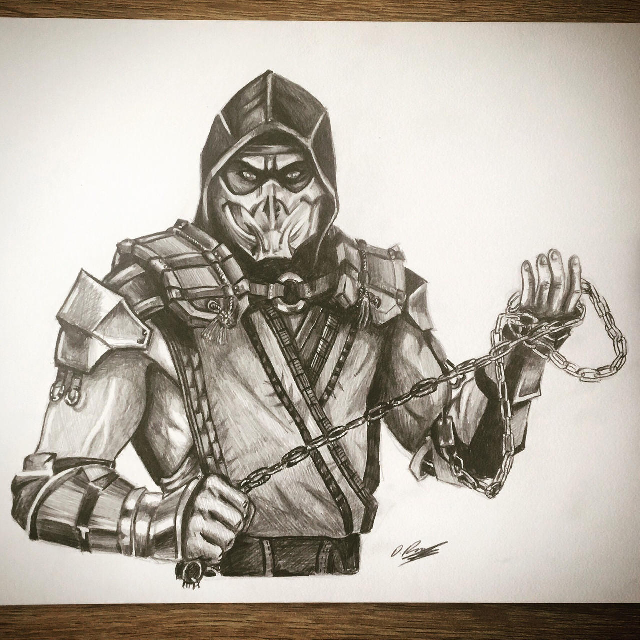 Drawing Scorpion From Mortal Kombat 11 By Dannymarkrogers On