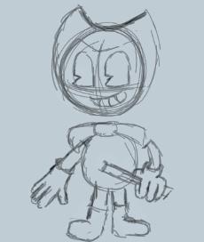 Bendy Sketch by RockyFiveTheHEdgehog