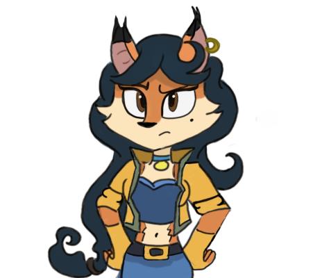 Carmelita Fox by RockyFiveTheHEdgehog