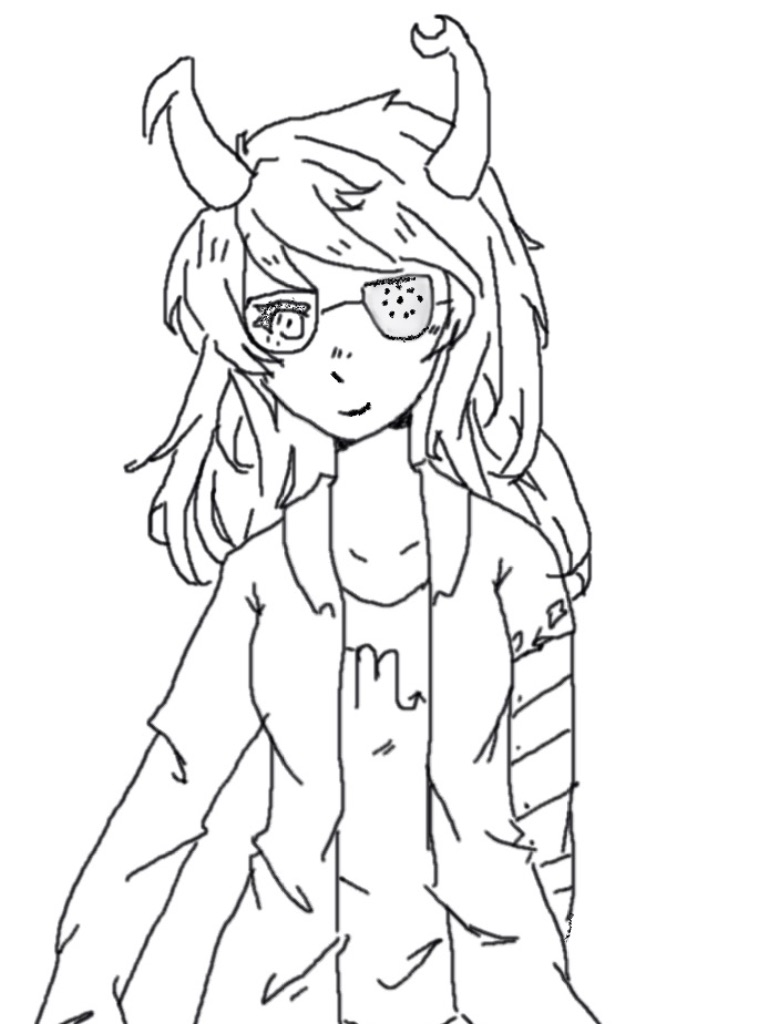 Digital Painting Line Art : Homestuck vriska digital line art by octotea on deviantart