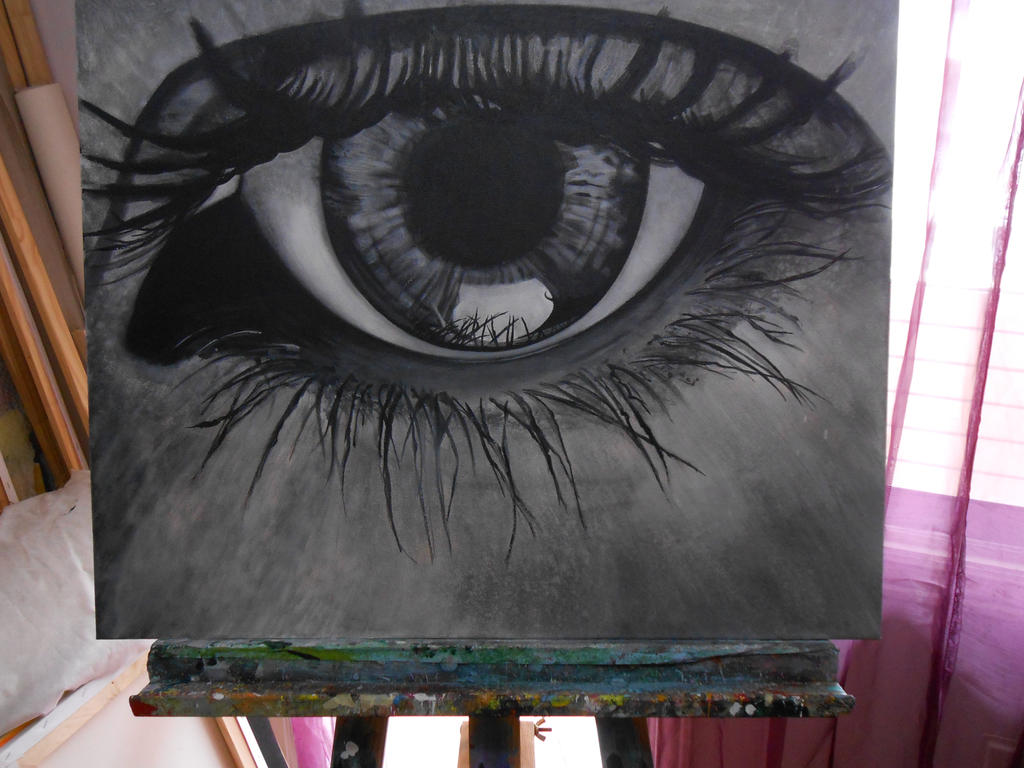 Acrylic painting eye 1 how to paint a realistic eye