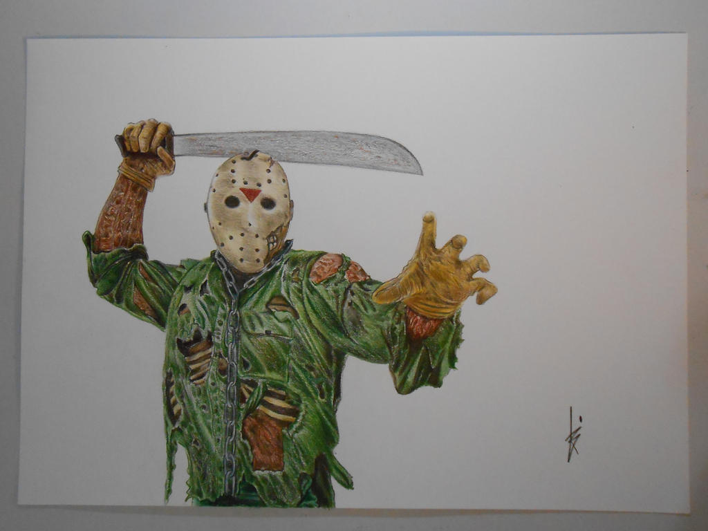 how to draw jason voorhees