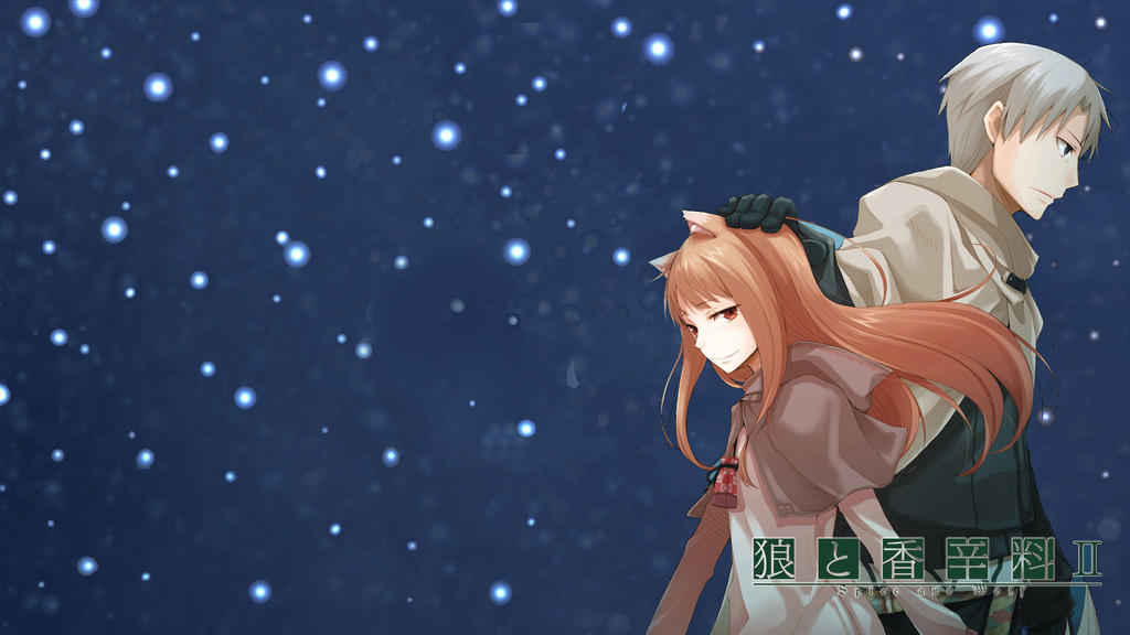 Spice and Wolf Holo and Lawrence by WinteryMrWolfy