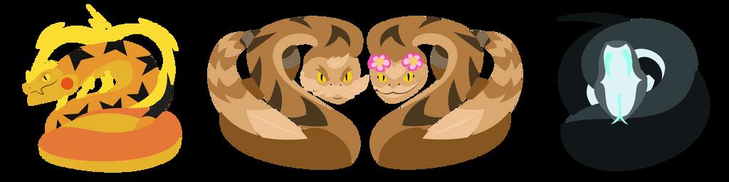 Pokemon: Snakes, by H-72